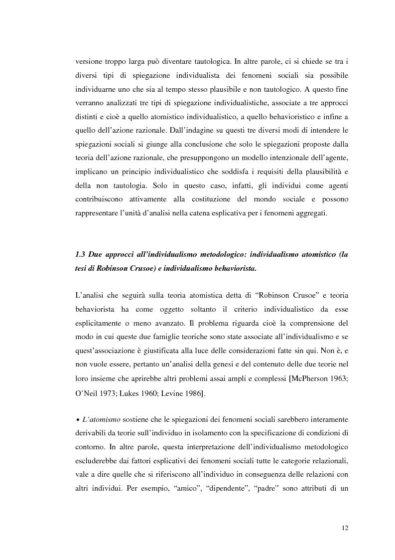 Anteprima della tesi: Dall'individualismo alla cooperazione nella teoria della scelta economica, Pagina 13