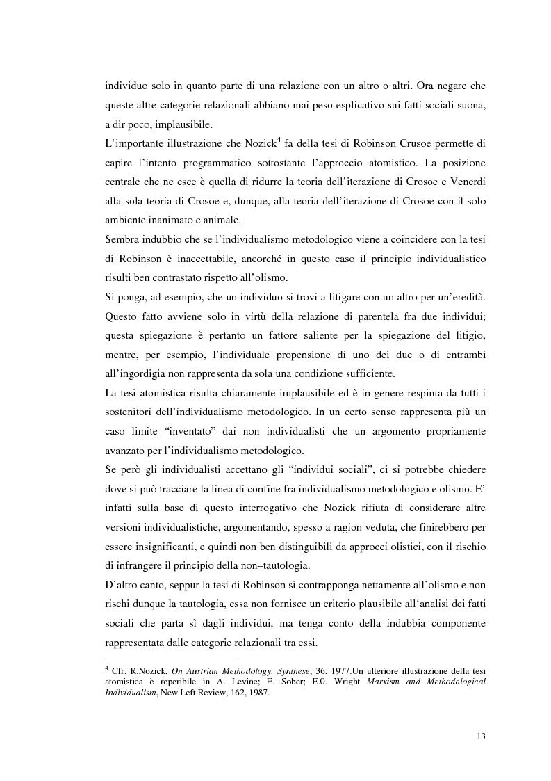 Anteprima della tesi: Dall'individualismo alla cooperazione nella teoria della scelta economica, Pagina 14