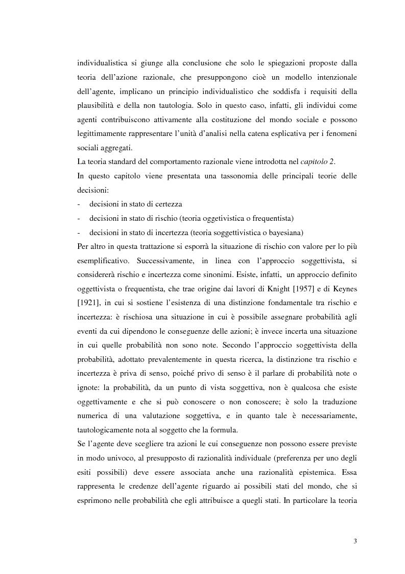 Anteprima della tesi: Dall'individualismo alla cooperazione nella teoria della scelta economica, Pagina 3