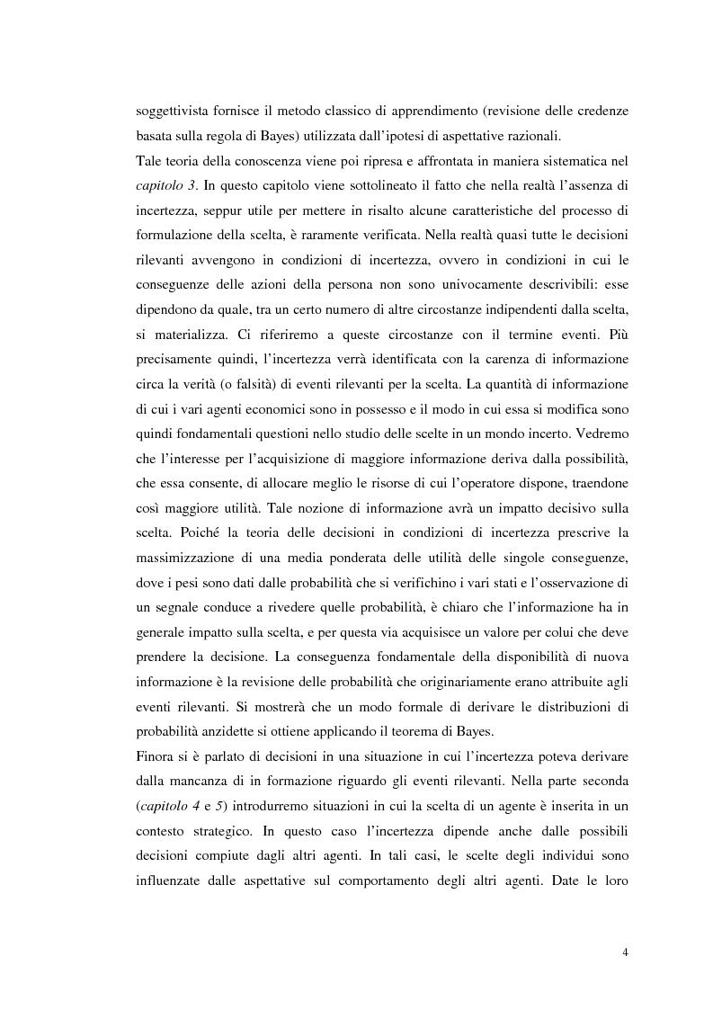 Anteprima della tesi: Dall'individualismo alla cooperazione nella teoria della scelta economica, Pagina 4