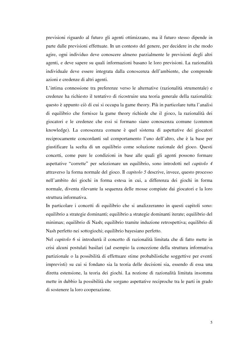 Anteprima della tesi: Dall'individualismo alla cooperazione nella teoria della scelta economica, Pagina 5