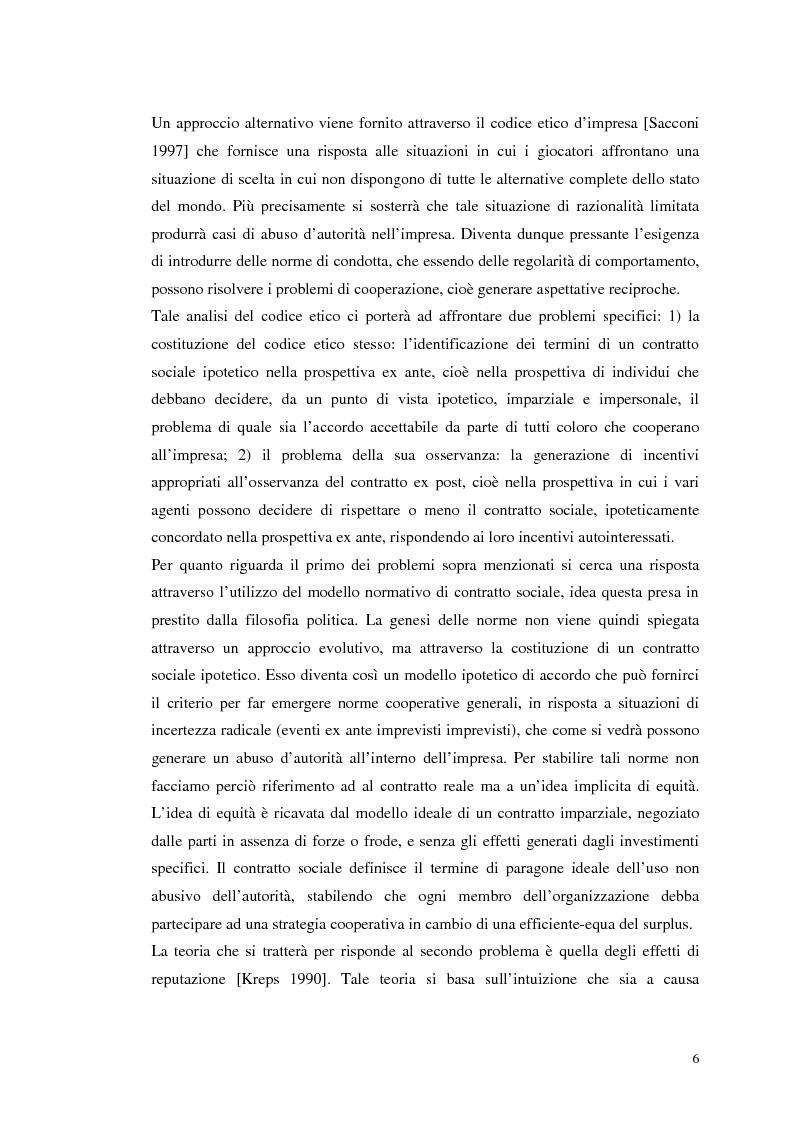 Anteprima della tesi: Dall'individualismo alla cooperazione nella teoria della scelta economica, Pagina 6
