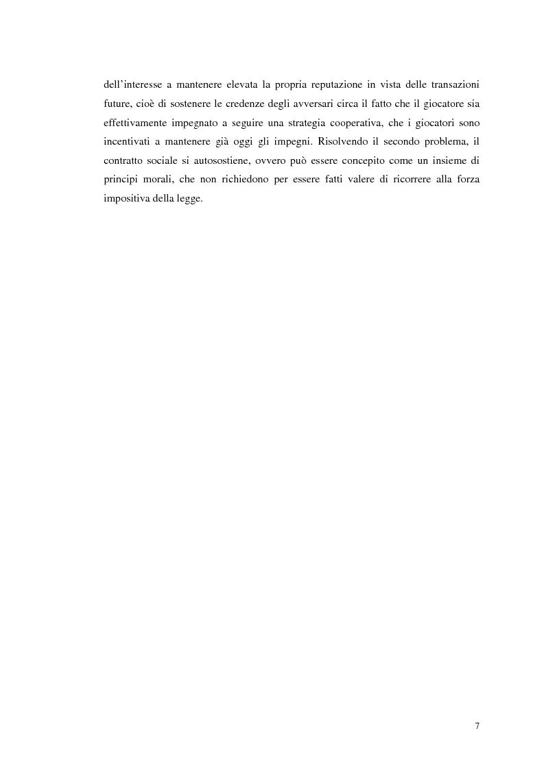 Anteprima della tesi: Dall'individualismo alla cooperazione nella teoria della scelta economica, Pagina 7