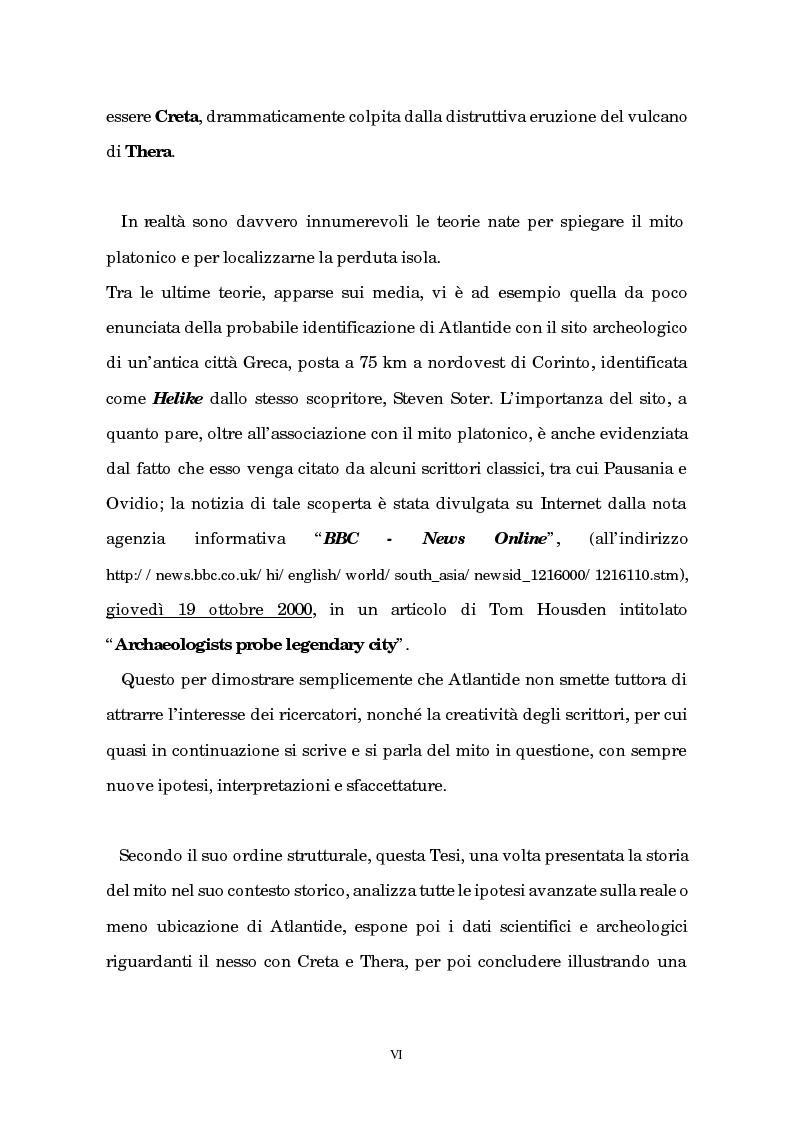 Anteprima della tesi: Atlantide tra mito e archeologia, Pagina 2