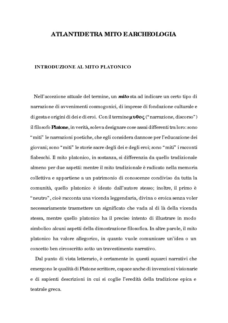 Anteprima della tesi: Atlantide tra mito e archeologia, Pagina 4