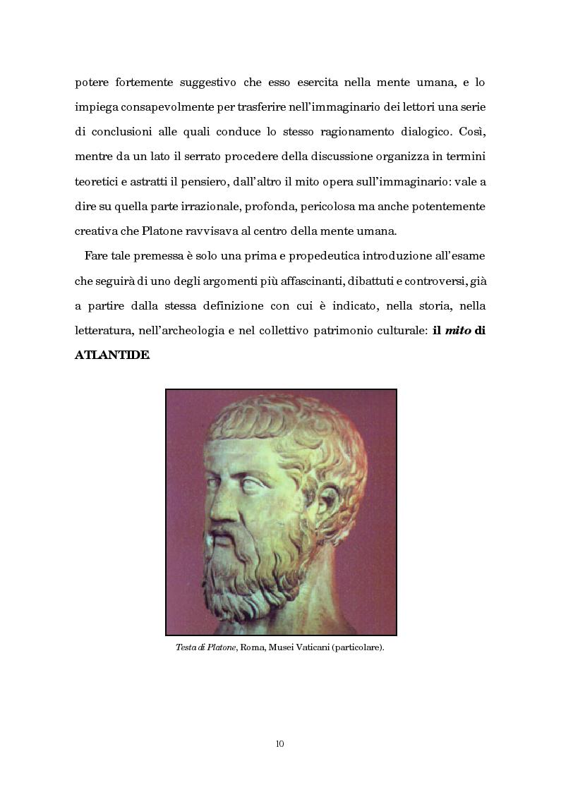 Anteprima della tesi: Atlantide tra mito e archeologia, Pagina 6