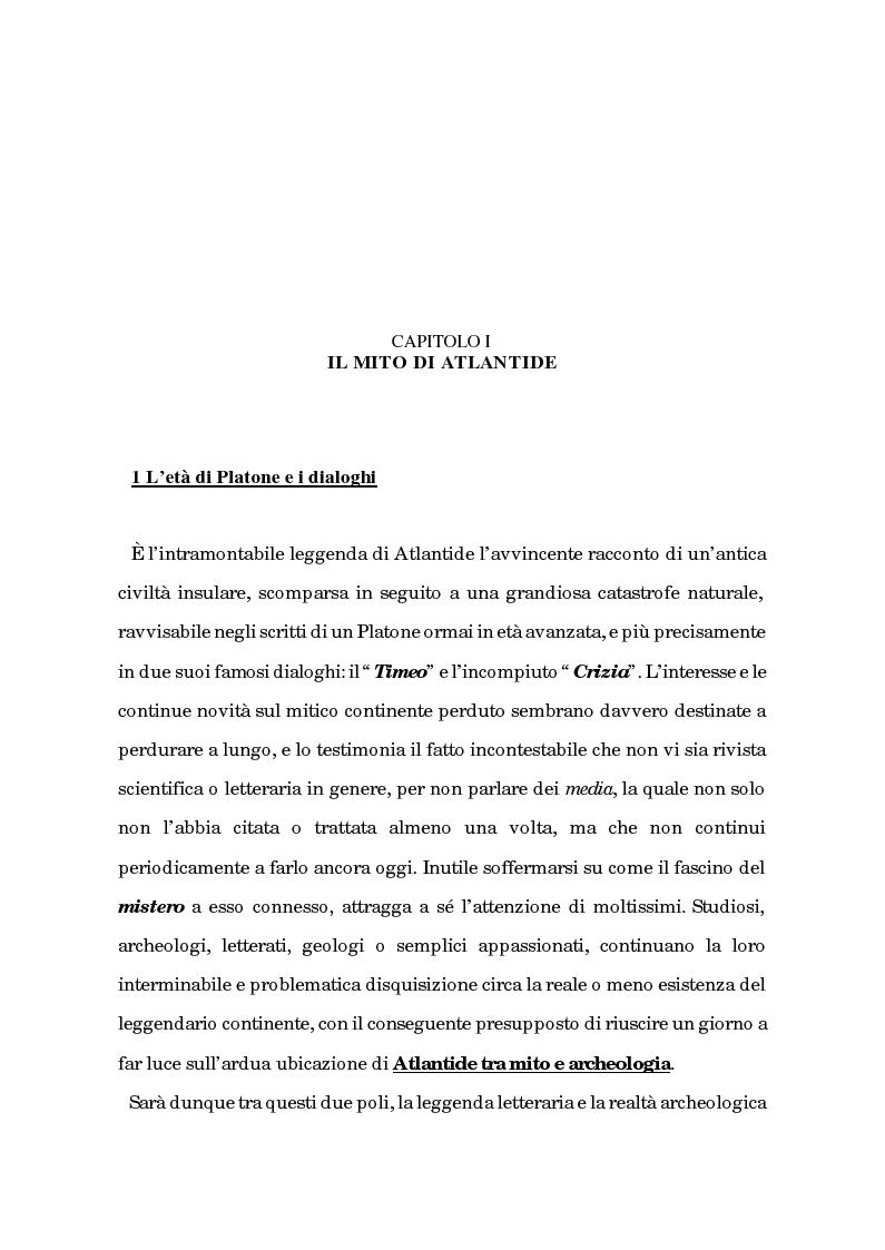 Anteprima della tesi: Atlantide tra mito e archeologia, Pagina 8