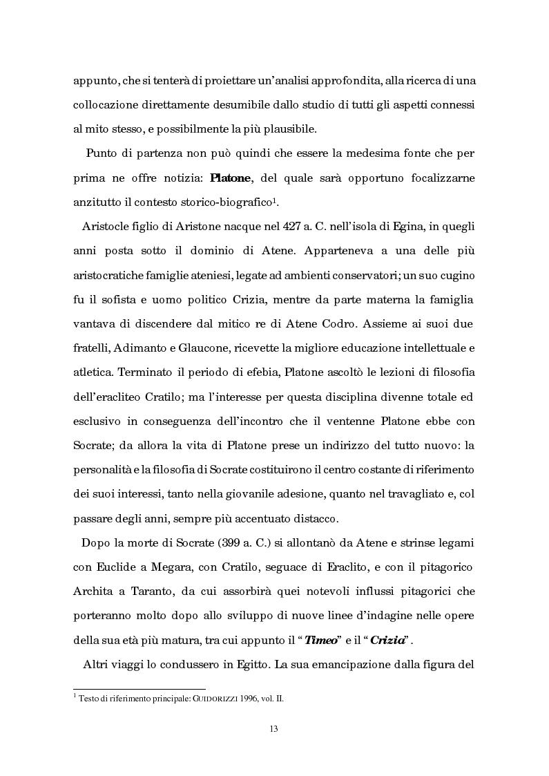 Anteprima della tesi: Atlantide tra mito e archeologia, Pagina 9