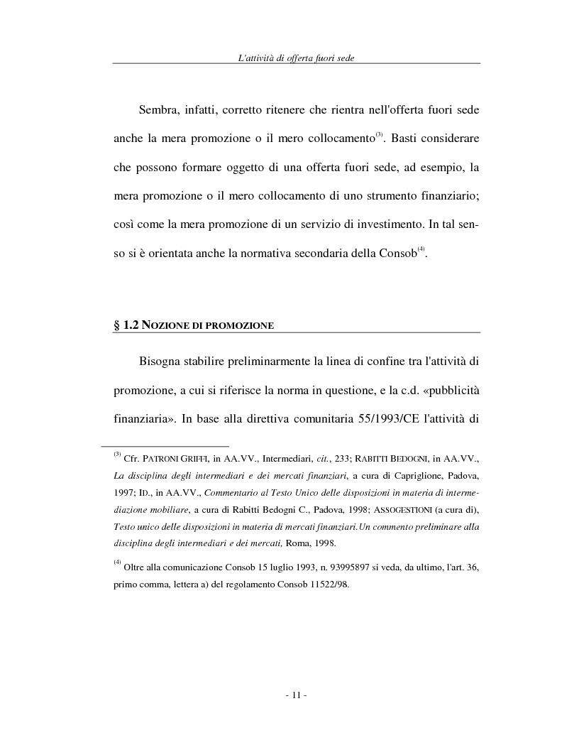 Anteprima della tesi: L'attività di offerta fuori sede e a distanza di servizi e strumenti finanziari, Pagina 11