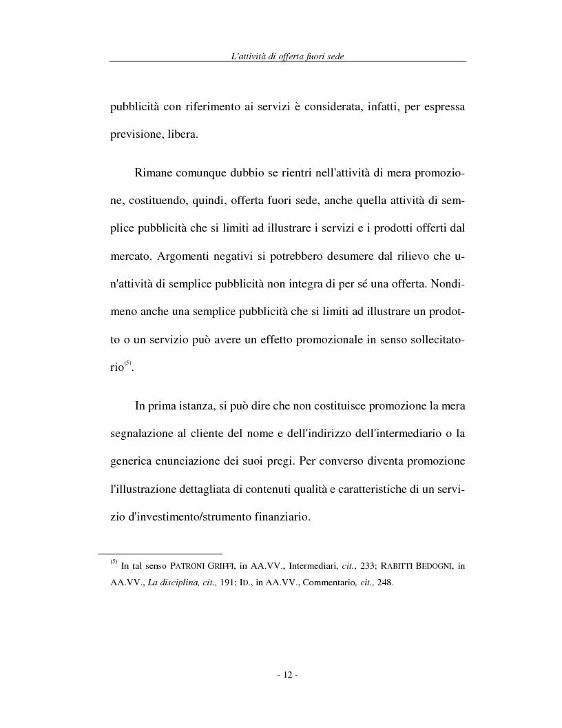 Anteprima della tesi: L'attività di offerta fuori sede e a distanza di servizi e strumenti finanziari, Pagina 12