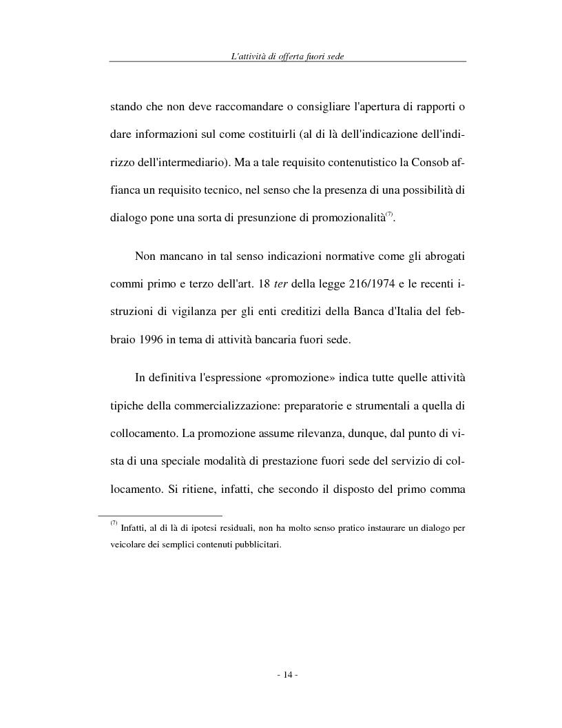 Anteprima della tesi: L'attività di offerta fuori sede e a distanza di servizi e strumenti finanziari, Pagina 14