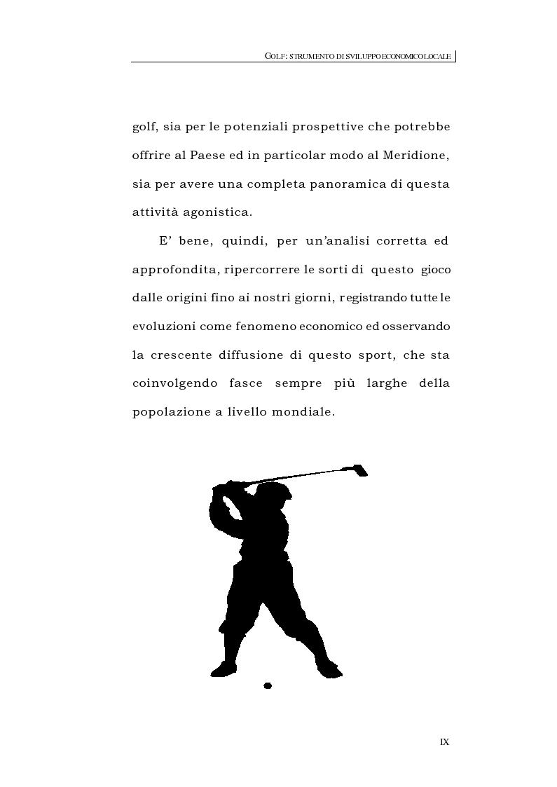 Anteprima della tesi: Golf: strumento di sviluppo economico locale, Pagina 7