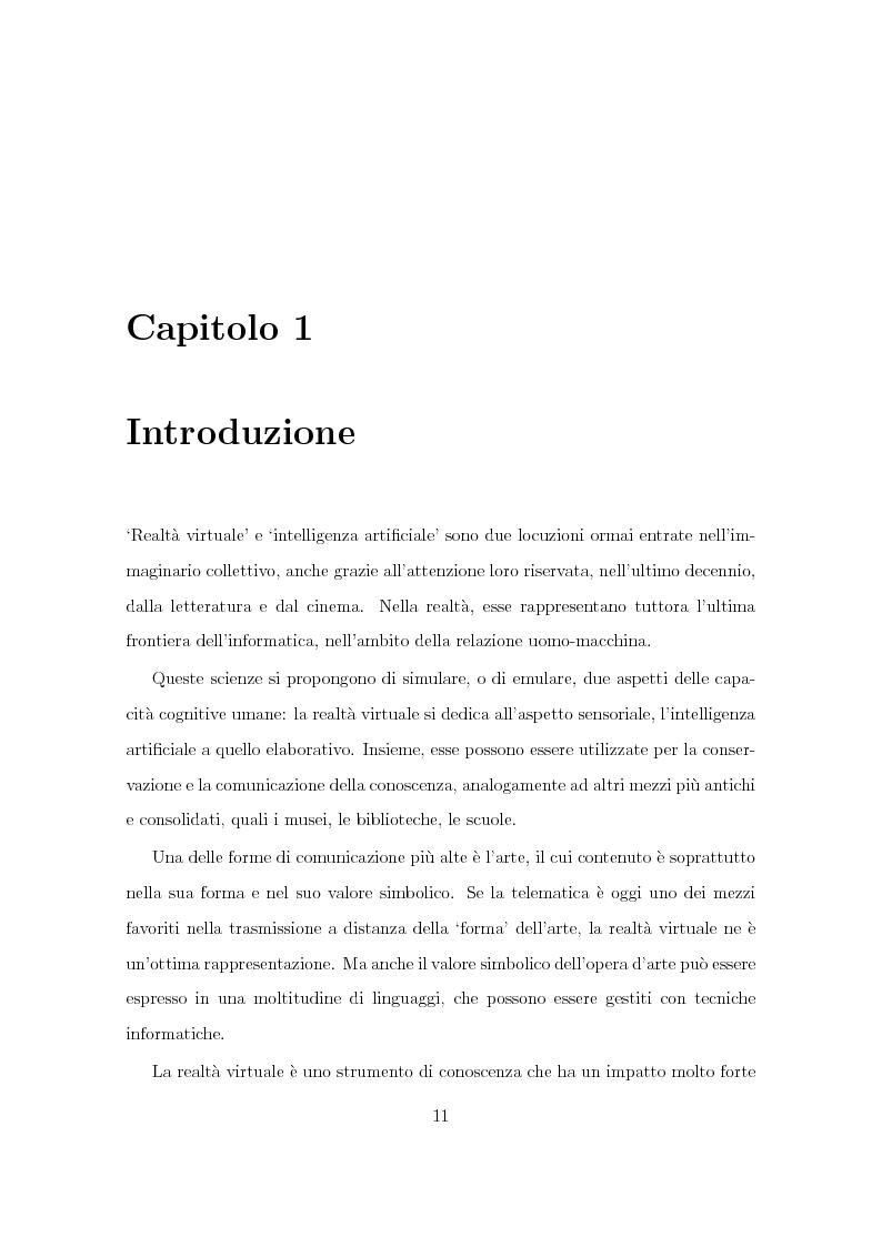 Anteprima della tesi: Progetto Minerva: sviluppo di un agente assistente per la visita di un museo, Pagina 1