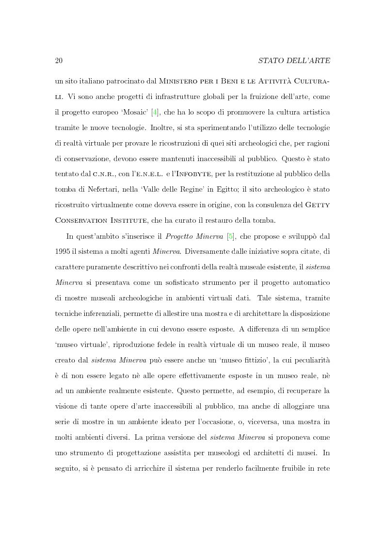 Anteprima della tesi: Progetto Minerva: sviluppo di un agente assistente per la visita di un museo, Pagina 10