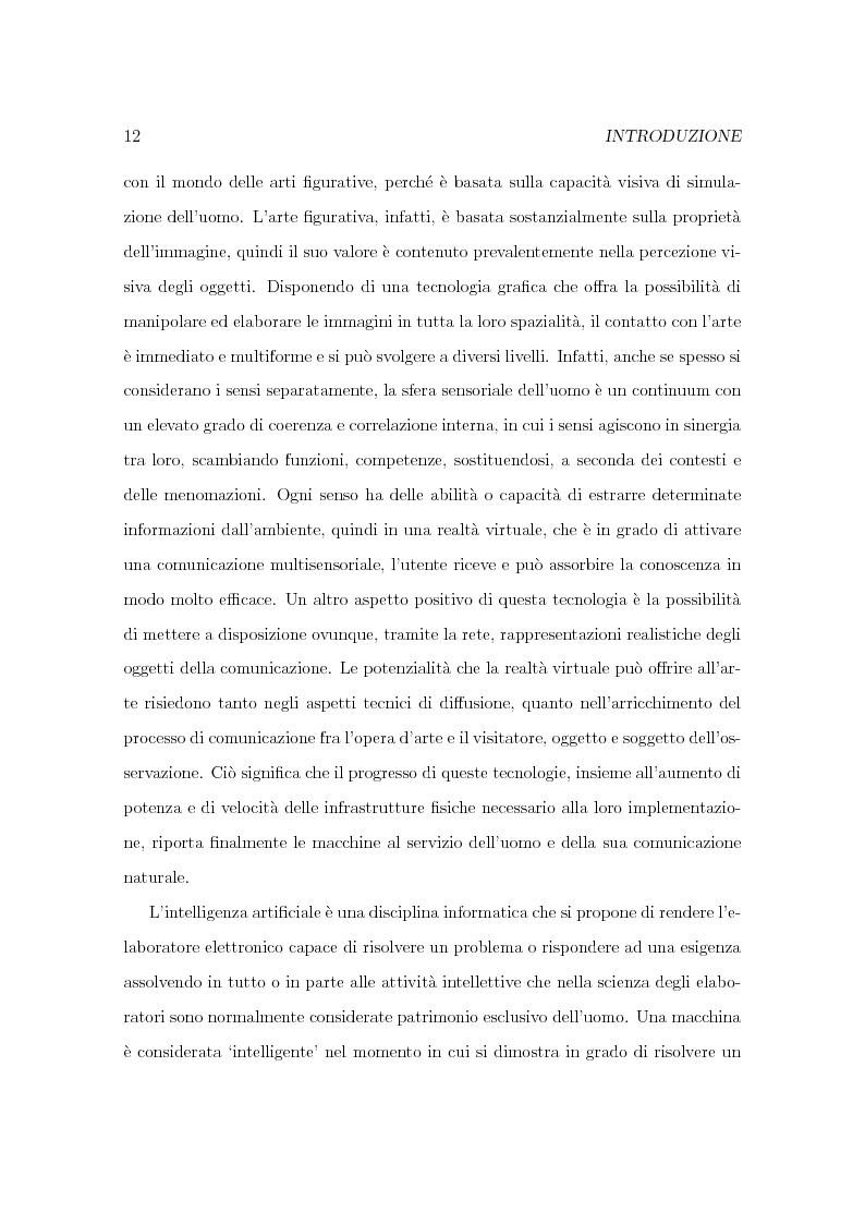Anteprima della tesi: Progetto Minerva: sviluppo di un agente assistente per la visita di un museo, Pagina 2