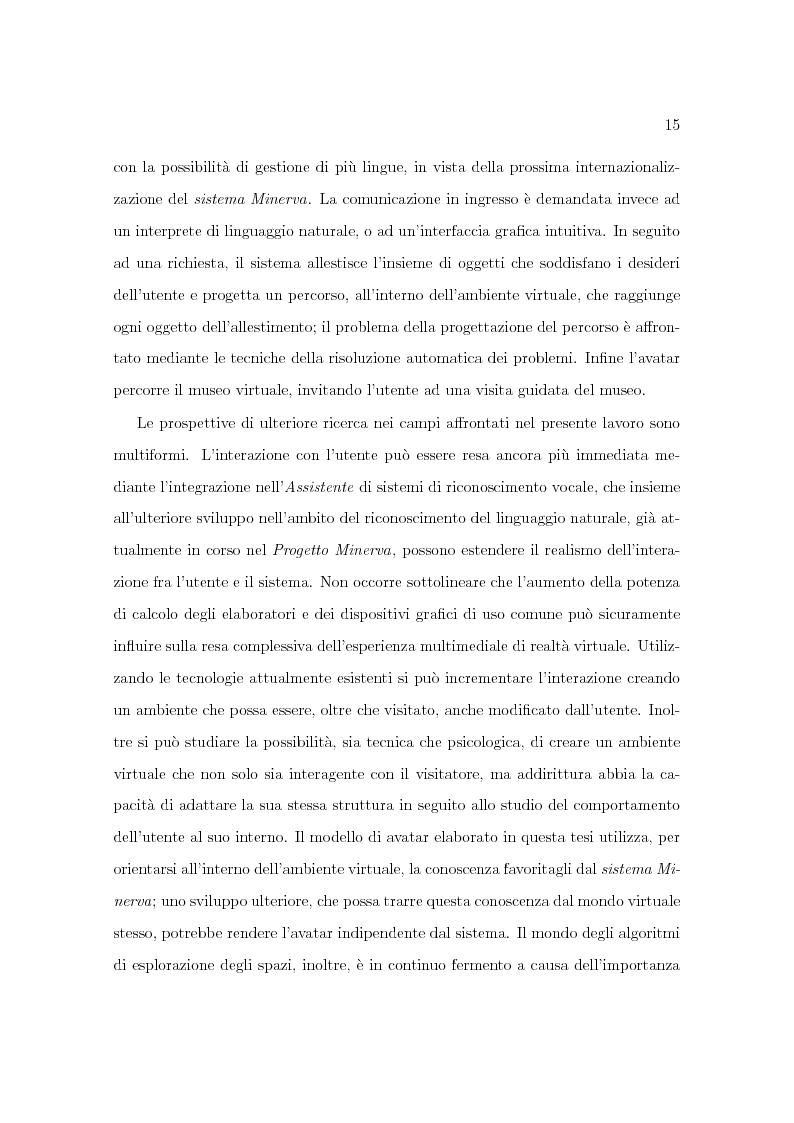 Anteprima della tesi: Progetto Minerva: sviluppo di un agente assistente per la visita di un museo, Pagina 5