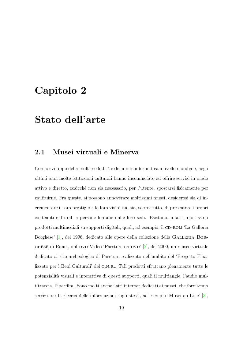 Anteprima della tesi: Progetto Minerva: sviluppo di un agente assistente per la visita di un museo, Pagina 9