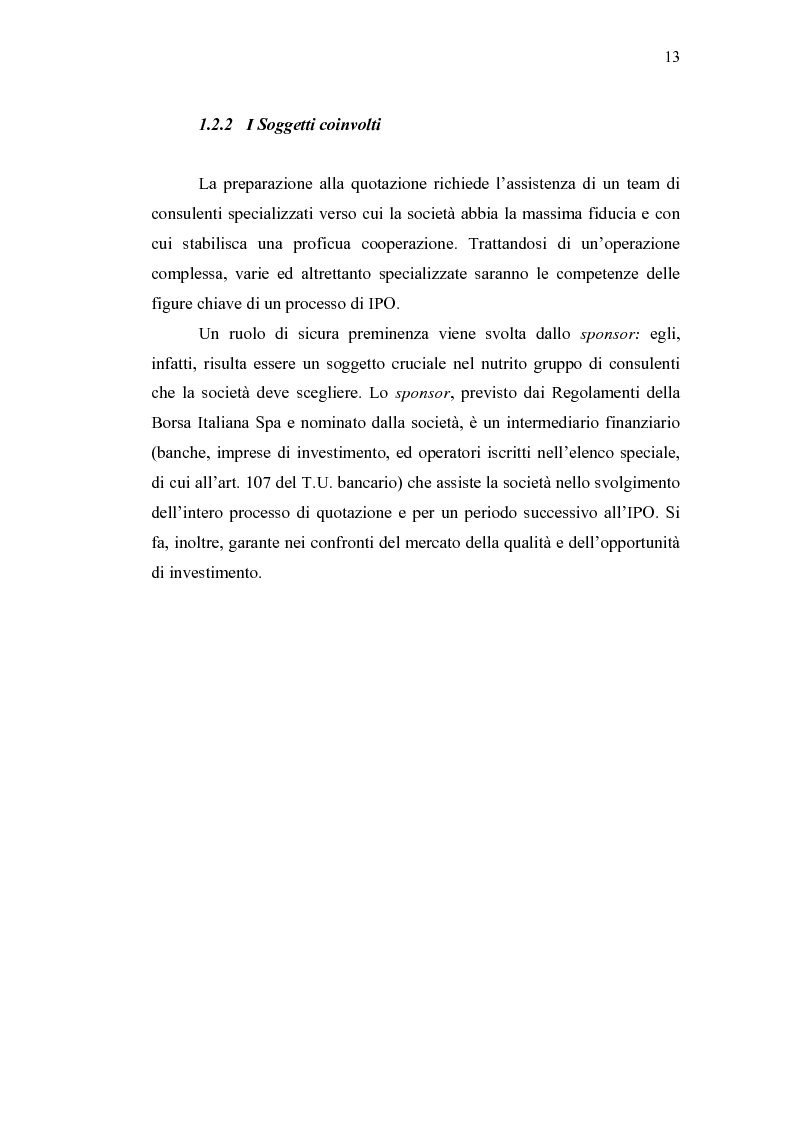 Anteprima della tesi: Initial Pubblic Offering: efficiente strumento di raccolta del risparmio o debacle dei risparmiatori?, Pagina 10