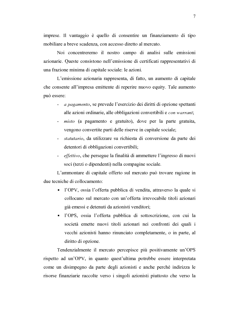 Anteprima della tesi: Initial Pubblic Offering: efficiente strumento di raccolta del risparmio o debacle dei risparmiatori?, Pagina 4