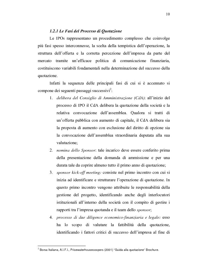 Anteprima della tesi: Initial Pubblic Offering: efficiente strumento di raccolta del risparmio o debacle dei risparmiatori?, Pagina 7