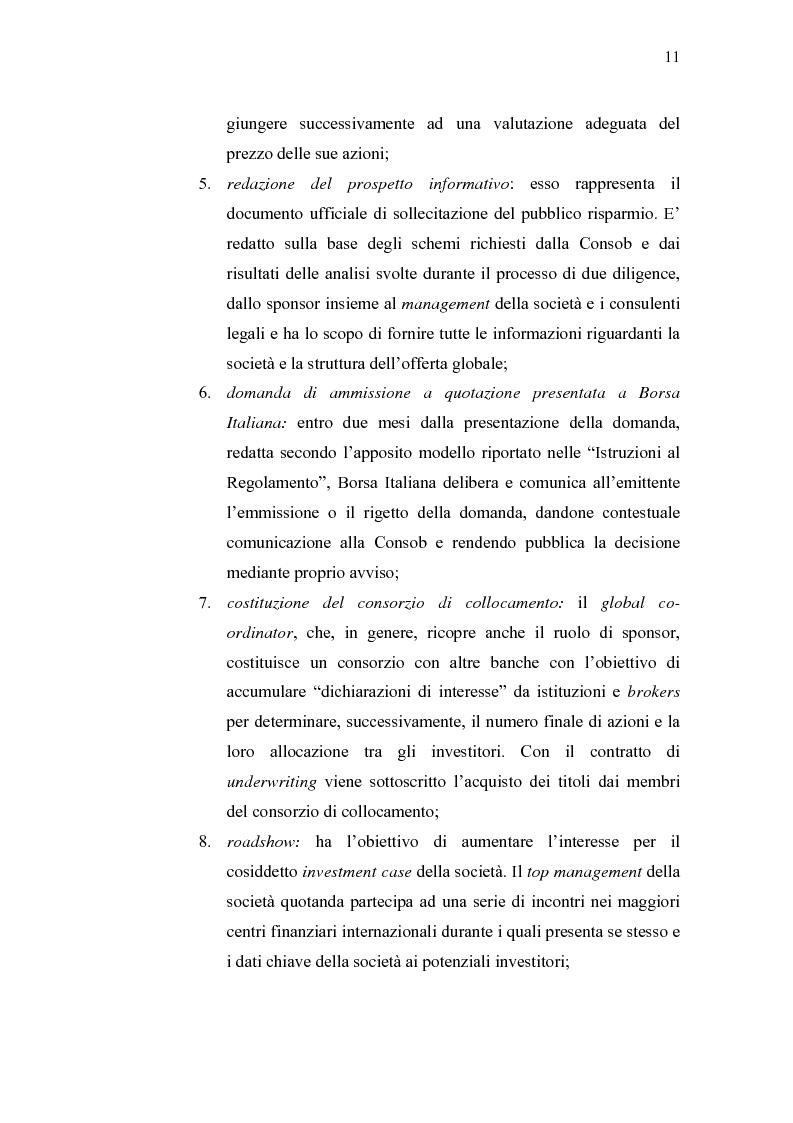 Anteprima della tesi: Initial Pubblic Offering: efficiente strumento di raccolta del risparmio o debacle dei risparmiatori?, Pagina 8