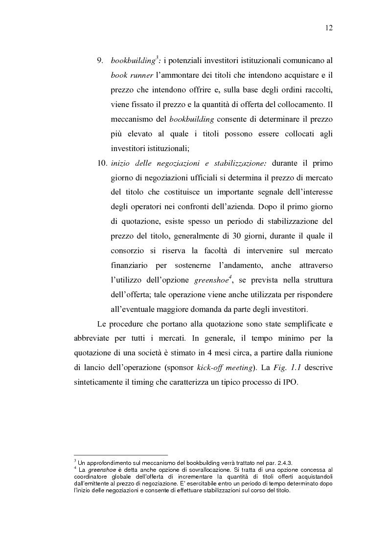 Anteprima della tesi: Initial Pubblic Offering: efficiente strumento di raccolta del risparmio o debacle dei risparmiatori?, Pagina 9