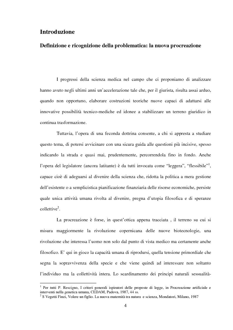 Anteprima della tesi: Procreazione e scelta responsabile, Pagina 1