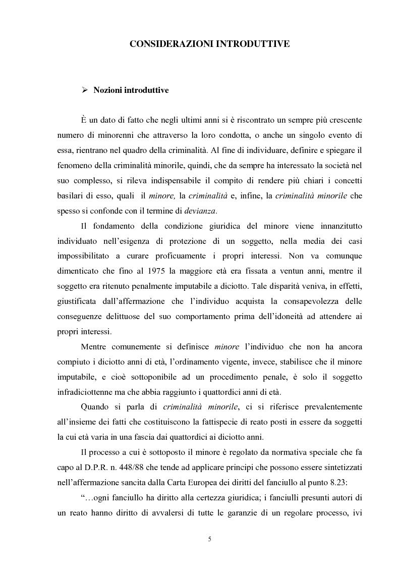 Criminalità minorile: aspetti medico-legali e nuovi orientamenti normativi e giurisprudenziali - Tesi di Laurea