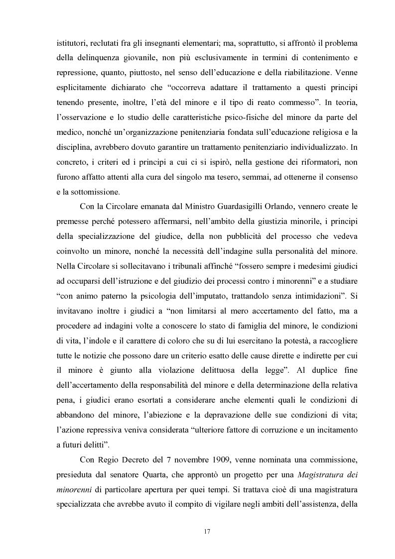 Anteprima della tesi: Criminalità minorile: aspetti medico-legali e nuovi orientamenti normativi e giurisprudenziali, Pagina 13