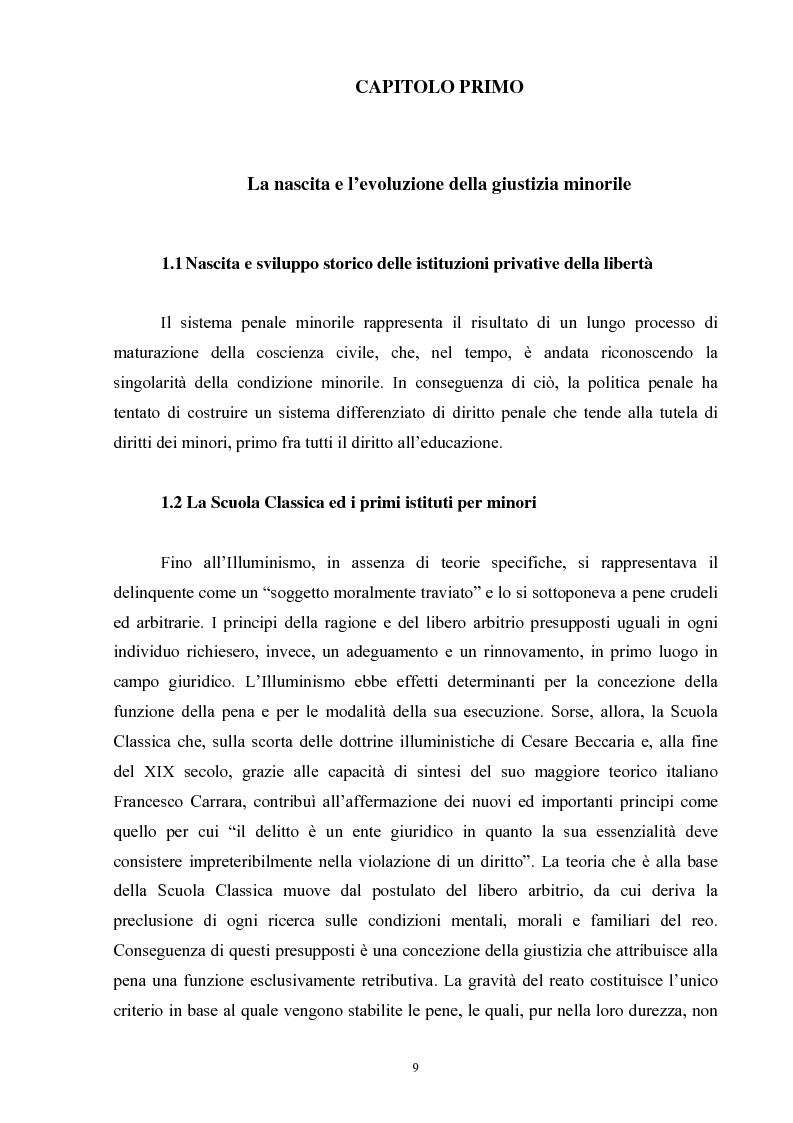 Anteprima della tesi: Criminalità minorile: aspetti medico-legali e nuovi orientamenti normativi e giurisprudenziali, Pagina 5