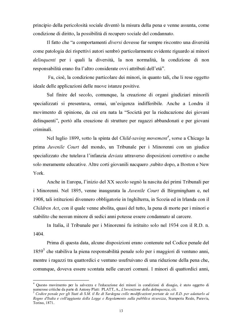 Anteprima della tesi: Criminalità minorile: aspetti medico-legali e nuovi orientamenti normativi e giurisprudenziali, Pagina 9