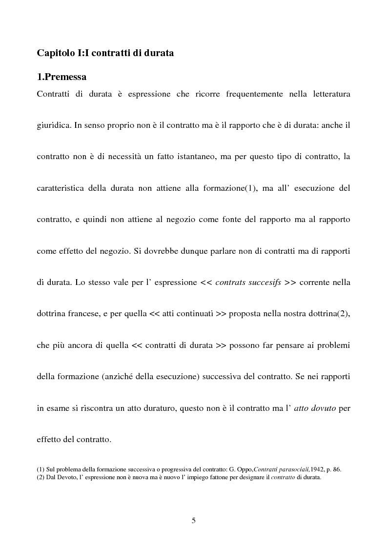 Anteprima della tesi: Gli effetti della sentenza dichiarativa di fallimento sui contratti di durata, Pagina 2