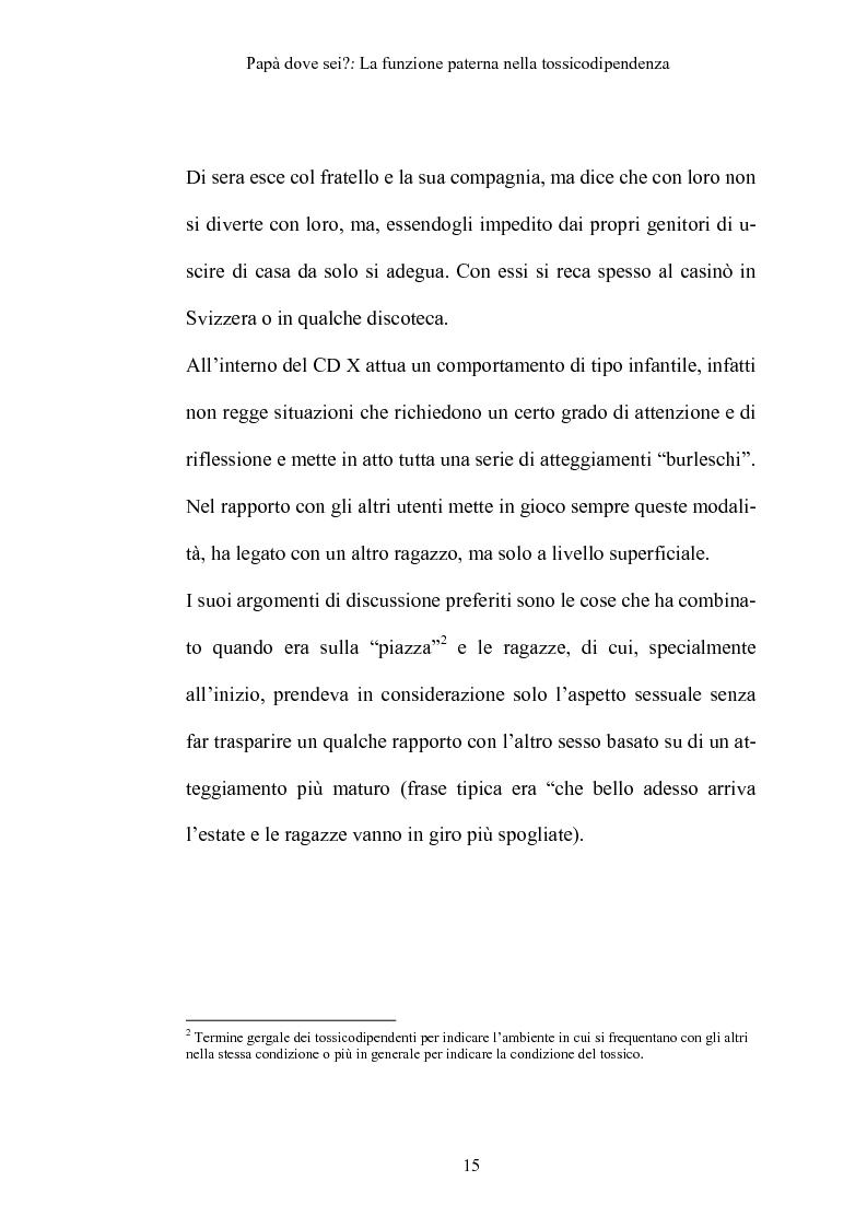 Anteprima della tesi: La funzione paterna nella tossicodipendenza, Pagina 12
