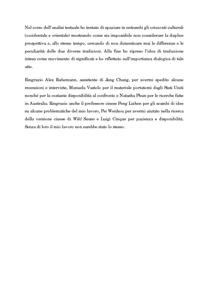 Anteprima della tesi: Wild Swans: storia, auto/biografia e identità femminile, Pagina 4