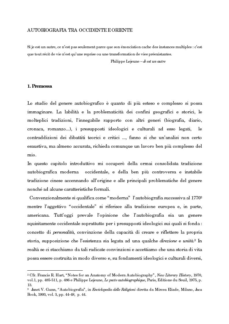 Anteprima della tesi: Wild Swans: storia, auto/biografia e identità femminile, Pagina 5