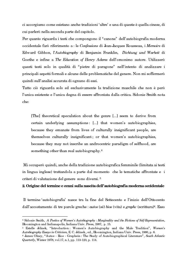 Anteprima della tesi: Wild Swans: storia, auto/biografia e identità femminile, Pagina 6