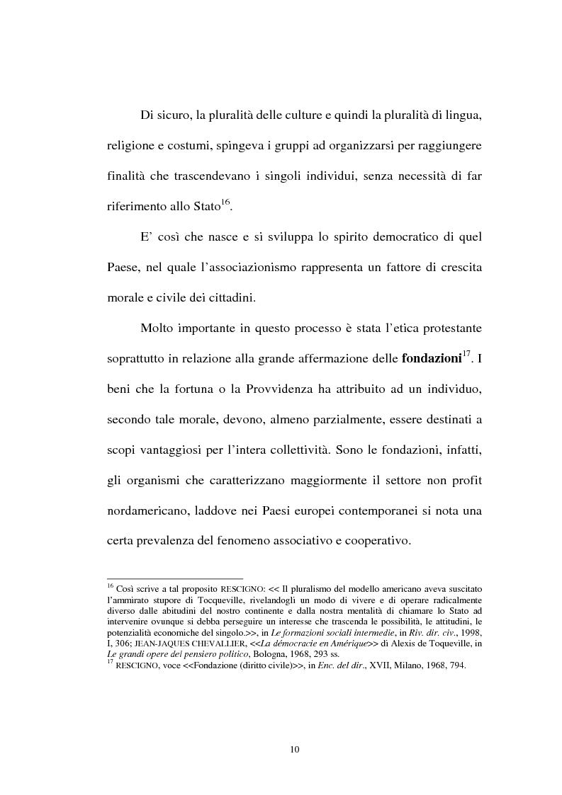 Anteprima della tesi: Organizzazioni non lucrative di utilità sociale, Pagina 10