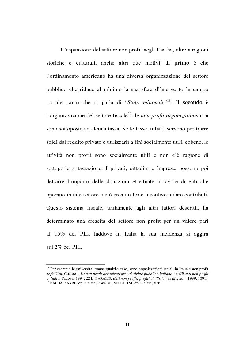 Anteprima della tesi: Organizzazioni non lucrative di utilità sociale, Pagina 11