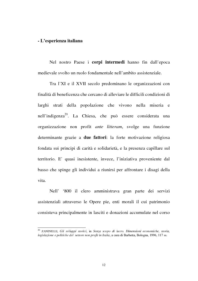 Anteprima della tesi: Organizzazioni non lucrative di utilità sociale, Pagina 12