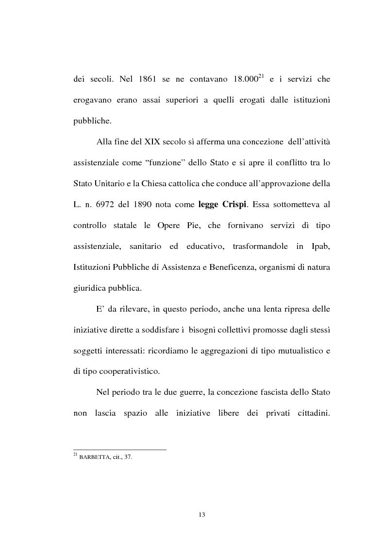 Anteprima della tesi: Organizzazioni non lucrative di utilità sociale, Pagina 13