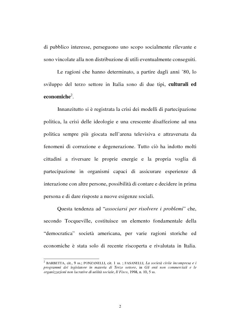 Anteprima della tesi: Organizzazioni non lucrative di utilità sociale, Pagina 2
