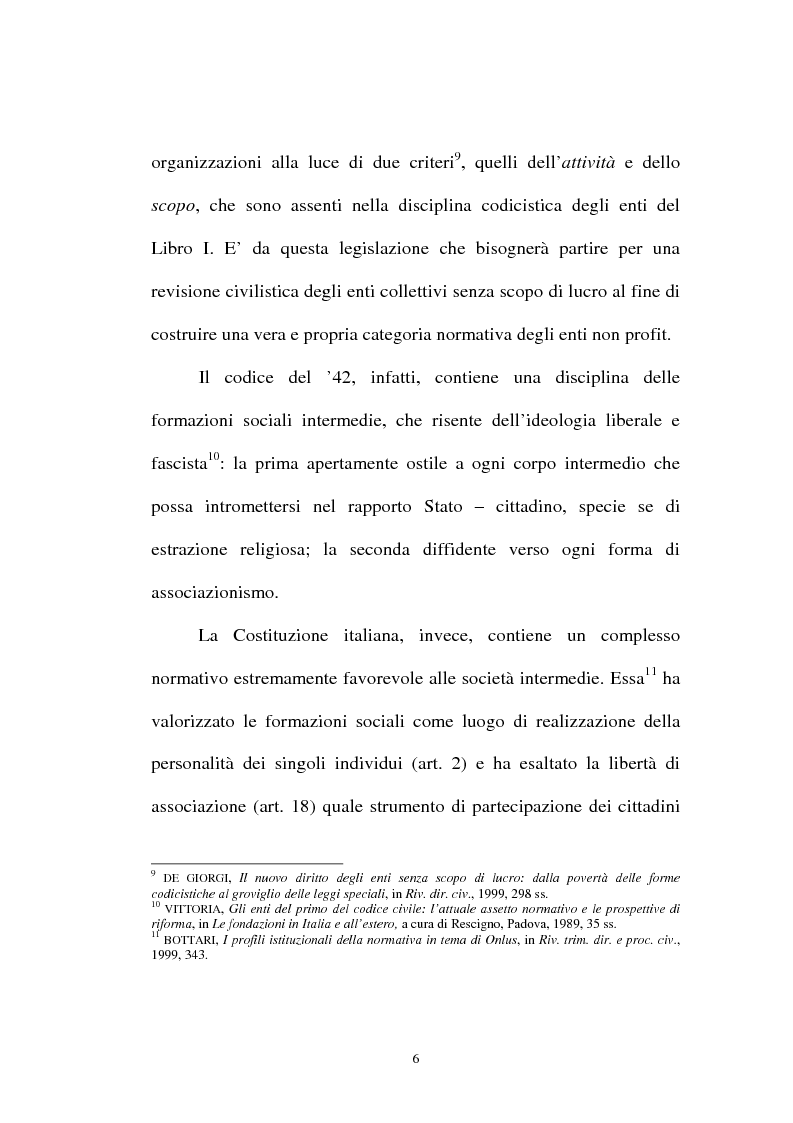 Anteprima della tesi: Organizzazioni non lucrative di utilità sociale, Pagina 6
