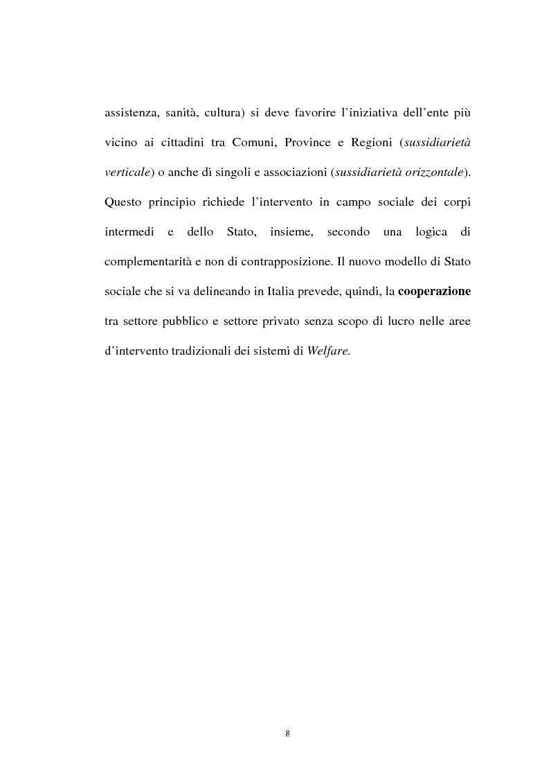 Anteprima della tesi: Organizzazioni non lucrative di utilità sociale, Pagina 8