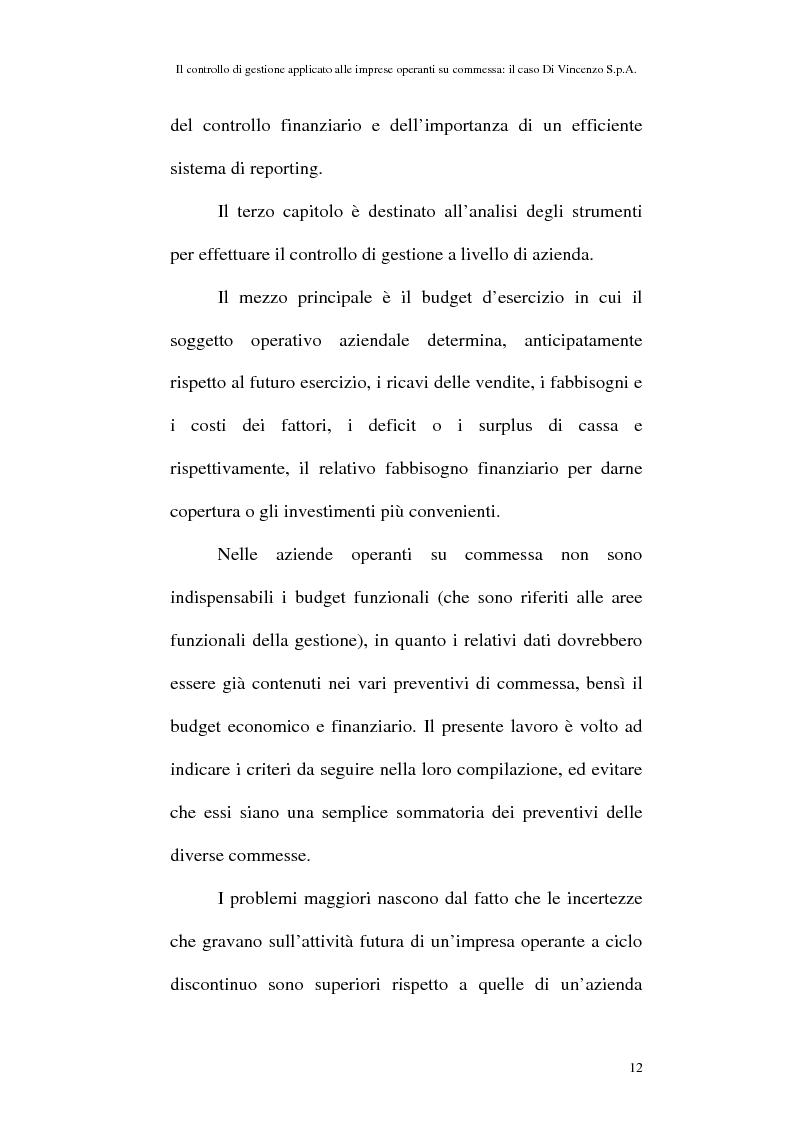 Anteprima della tesi: Il controllo di gestione applicato alle imprese operanti su commessa: il caso Di Vincenzo S.p.A., Pagina 11