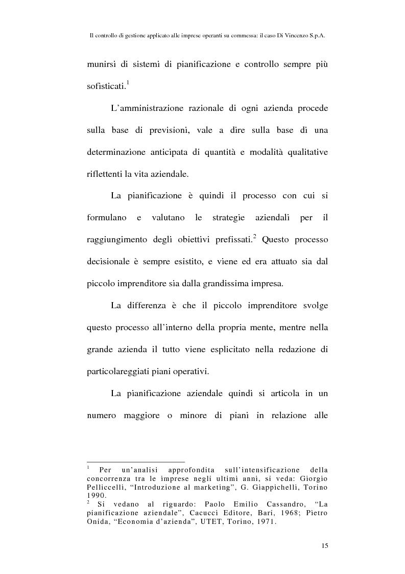 Anteprima della tesi: Il controllo di gestione applicato alle imprese operanti su commessa: il caso Di Vincenzo S.p.A., Pagina 14