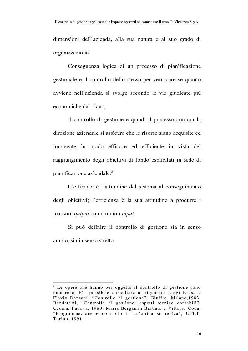 Anteprima della tesi: Il controllo di gestione applicato alle imprese operanti su commessa: il caso Di Vincenzo S.p.A., Pagina 15