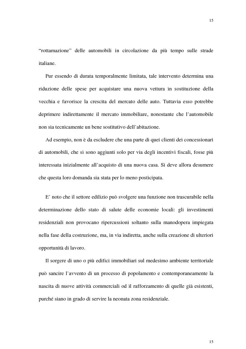Anteprima della tesi: Il mercato delle abitazioni: modelli teorici ed un'applicazione econometrica sui prezzi in Italia, Pagina 11
