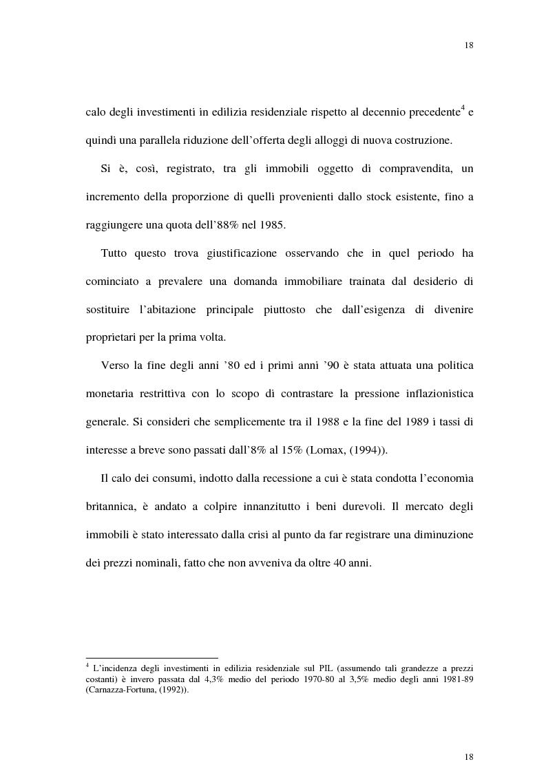 Anteprima della tesi: Il mercato delle abitazioni: modelli teorici ed un'applicazione econometrica sui prezzi in Italia, Pagina 14