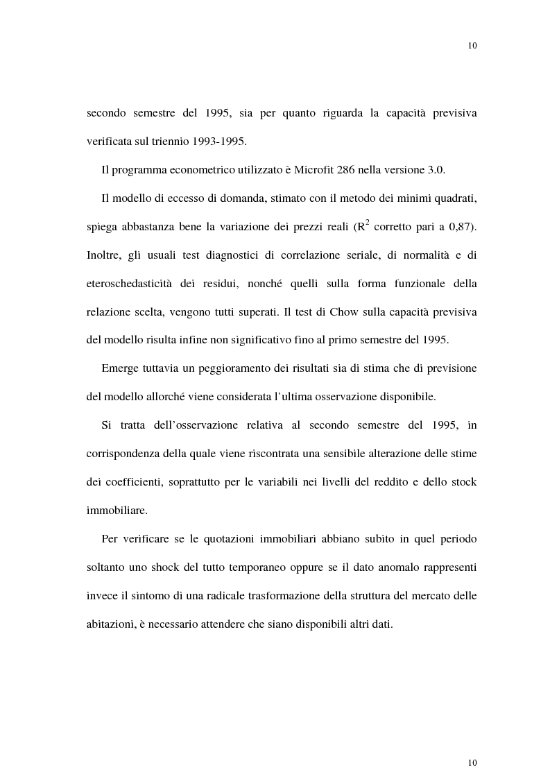 Anteprima della tesi: Il mercato delle abitazioni: modelli teorici ed un'applicazione econometrica sui prezzi in Italia, Pagina 6