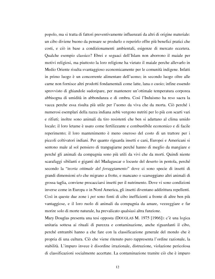 Anteprima della tesi: Usi alimentari in un contesto contadino tradizionale. L'alimentazione delle famiglie mezzadrili a Spello negli anni '50, Pagina 10